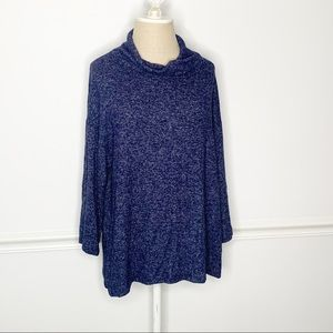 Gap Cowl Neck Oversized Sweater Navy Large